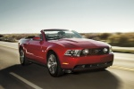 2012 Ford Mustang GT Convertible in Red Candy Metallic Tinted Clearcoat - Driving Front Right View