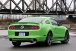 2013 Ford Mustang GT Coupe in Gotta Have It Green Metallic Tri-Coat - Static Rear Right View