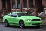 2013 Ford Mustang GT Coupe in Gotta Have It Green Metallic Tri-Coat - Static Front Right Three-quarter View