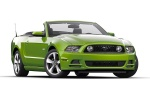 2013 Ford Mustang GT Convertible in Gotta Have It Green Metallic Tri-Coat - Static Front Right Three-quarter View