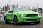 2013 Ford Mustang GT Coupe in Gotta Have It Green Metallic Tri-Coat - Static Front Right View