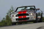 2013 Shelby GT500 Convertible in Ingot Silver Metallic - Driving Front Left View