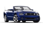 2014 Ford Mustang GT Convertible in Deep Impact Blue Metallic - Static Front Right Three-quarter View