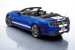 2014 Shelby GT500 Convertible in Deep Impact Blue Metallic - Static Rear Left Three-quarter View