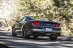 2017 Ford Mustang GT Fastback in Guard Metallic - Driving Rear Left View