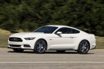 2017 Ford Mustang EcoBoost Fastback in Oxford White - Driving Front Left Three-quarter View