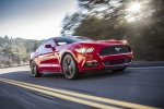 2017 Ford Mustang EcoBoost Fastback in Race Red - Driving Front Right Three-quarter View