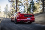 2017 Ford Mustang EcoBoost Fastback in Race Red - Driving Rear Left View