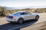 2017 Ford Mustang GT Fastback in Ingot Silver Metallic - Driving Rear Right Three-quarter View