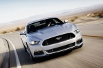 2017 Ford Mustang GT Fastback in Ingot Silver Metallic - Driving Frontal View