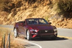 2018 Ford Mustang GT Premium Convertible in Royal Crimson Metallic Tinted Clearcoat - Driving Front Right View