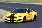 2018 Shelby GT350 R in Triple Yellow Tri-Coat - Driving Front Left Three-quarter View