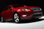 2011 Ford Taurus SHO in Candy Red Metallic Tinted Clearcoat - Static Front Right Three-quarter View