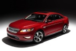 2011 Ford Taurus SHO in Candy Red Metallic Tinted Clearcoat - Static Front Left Three-quarter View