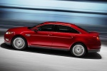 2011 Ford Taurus SHO in Candy Red Metallic Tinted Clearcoat - Driving Side View