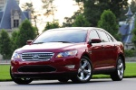 2011 Ford Taurus SHO in Candy Red Metallic Tinted Clearcoat - Static Front Left View