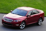 2011 Ford Taurus SHO in Candy Red Metallic Tinted Clearcoat - Static Front Left Three-quarter Top View