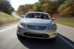 2011 Ford Taurus Limited in Ingot Silver Metallic - Driving Frontal View