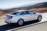 2012 Ford Taurus SHO in Ingot Silver Metallic - Driving Rear Right Three-quarter View