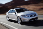 2012 Ford Taurus SHO in Ingot Silver Metallic - Driving Front Right Three-quarter View