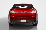 2014 Ford Taurus SHO Sedan in Ruby Red Metallic Tinted Clearcoat - Static Rear View