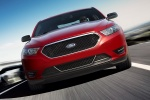 2018 Ford Taurus SHO Sedan in Ruby Red Metallic Tinted Clearcoat - Driving Frontal View