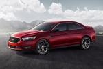 2018 Ford Taurus SHO Sedan in Ruby Red Metallic Tinted Clearcoat - Static Front Left Three-quarter View