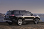 Picture of a 2019 GMC Acadia All Terrain in Ebony Twilight Metallic from a rear right perspective