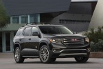 Picture of a 2019 GMC Acadia All Terrain in Ebony Twilight Metallic from a front right perspective