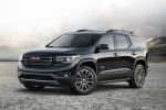 Picture of a 2019 GMC Acadia All Terrain in Ebony Twilight Metallic from a front left perspective