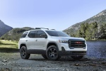 2020 GMC Acadia AT4 AWD in Summit White - Static Front Right Three-quarter View