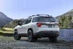 2020 GMC Acadia AT4 AWD in Summit White - Static Rear Left View