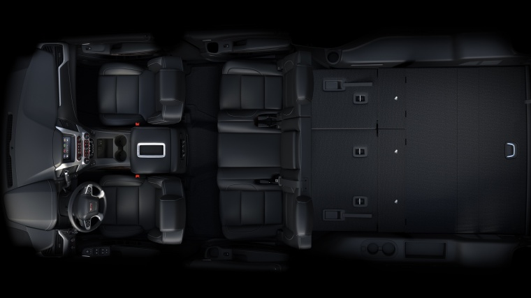 2018 GMC Yukon XL 7 Seat Interior with Third Row Folded Picture