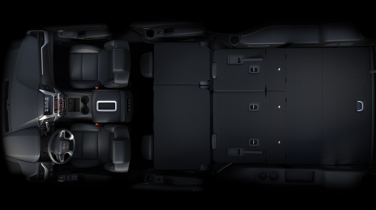 2018 GMC Yukon XL 7 Seat Interior with Second and Third Rows Folded Picture