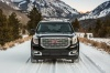 2018 GMC Yukon Denali in Onyx Black from a frontal view