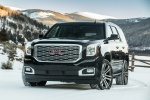 Picture of a 2018 GMC Yukon Denali in Onyx Black from a front left perspective