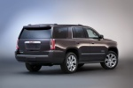 Picture of a 2018 GMC Yukon Denali from a rear right three-quarter perspective