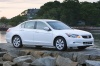 2010 Honda Accord Sedan V6 in White Diamond Pearl from a front right three-quarter view