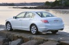 2010 Honda Accord Sedan V6 in White Diamond Pearl from a rear left view