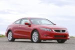 2010 Honda Accord Coupe V6 in San Marino Red - Static Front Right View