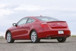 2010 Honda Accord Coupe V6 in San Marino Red - Static Rear Left Three-quarter View