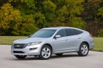 2010 Honda Accord Crosstour in Alabaster Silver Metallic - Static Front Left Three-quarter View