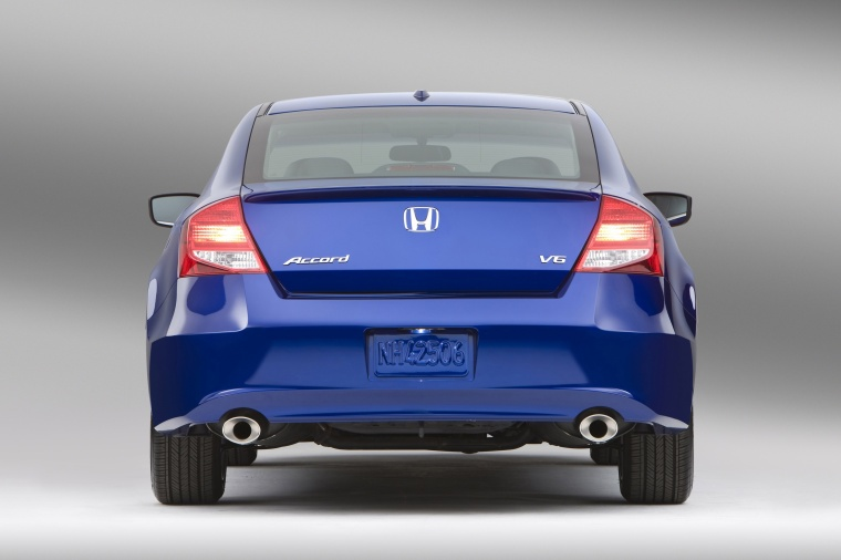 2012 Honda Accord Coupe EX L V6 In Belize Blue Pearl From A Rear View