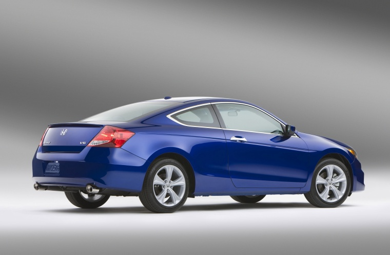 2012 Honda Accord Coupe EX L V6 In Belize Blue Pearl From A Rear Right