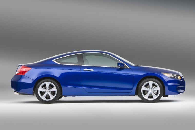 2017 Honda Accord Coupe Ex L V6 In Belize Blue Pearl From A Right Side