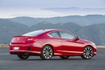 2013 Honda Accord Coupe EX-L V6 in San Marino Red - Static Rear Right Three-quarter View