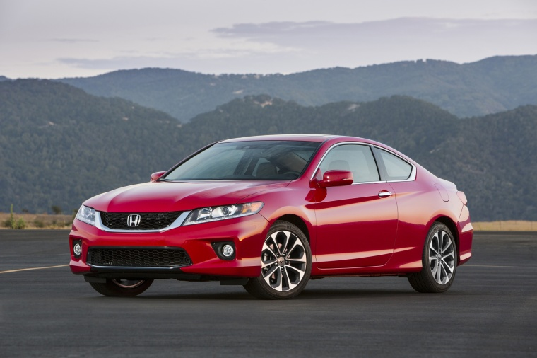 2014 Honda Accord Coupe EX L V6 In San Marino Red From A Front Left