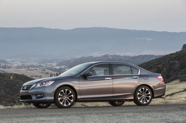 2014 Honda Accord Sedan Sport In Modern Steel Metallic From A Left Side View