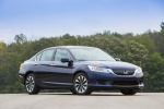 2014 Honda Accord Hybrid Sedan Touring in Obsidian Blue Pearl - Static Front Right Three-quarter View