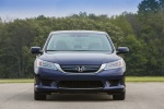 2014 Honda Accord Hybrid Sedan Touring in Obsidian Blue Pearl - Static Frontal View
